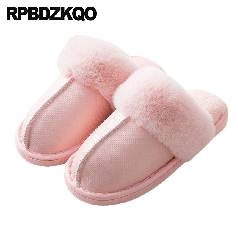fur furry guest indoor slides bedroom shoes plush house slippers pink casual home winter 5 women most popular products korean