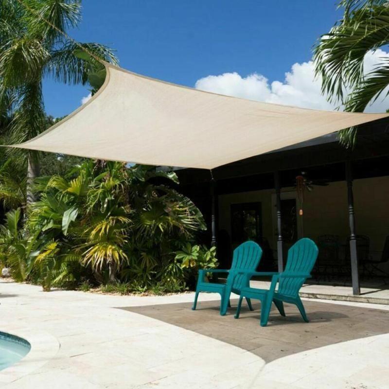 360 × 290cm Sun Sonnensegel im Freien Garten-Wasserdichtes Markise Vordach Patio Abdeckung Zelt