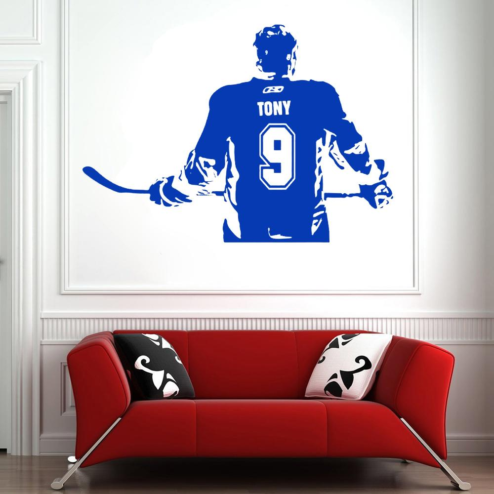 Wallpaper Home Decor ice Hockey Wall Sticker Poster Custom Name Number Removeable Vinyl DIY Wall Decal Bedroom Decoration