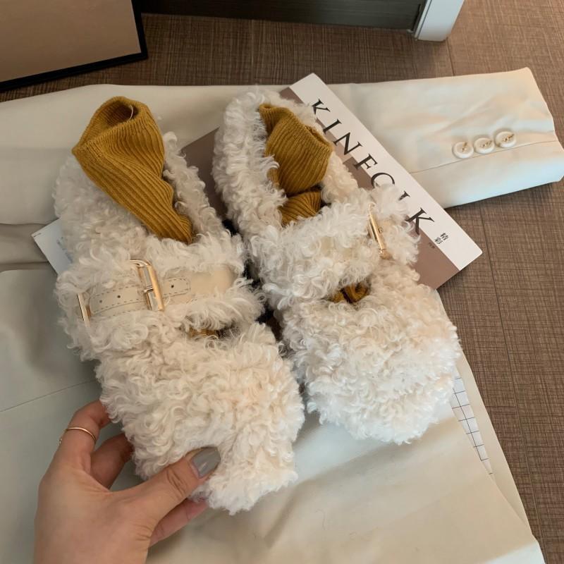 Hot Sale-Frauen Baumwollschuhe warmer Beweis loafer Wölbungsbügel Baumwolle Faulenzer flache Ferse beiläufige Art und Weise Mary Jane Schuhe zy575