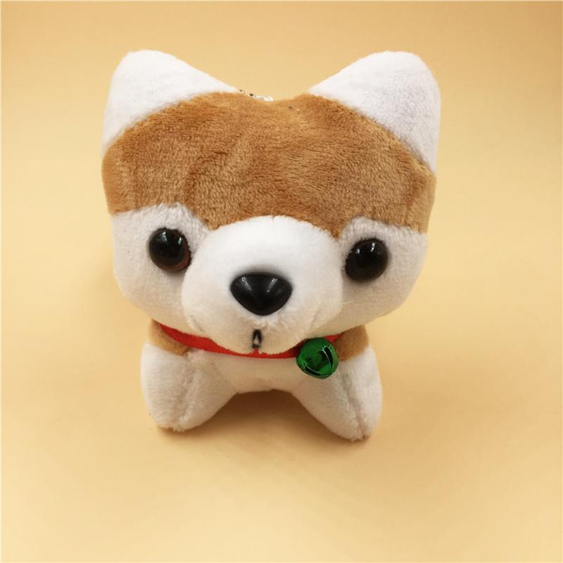4 Colors Cute Husky Dog Plush Keychains Bag Mobile Phone Ornaments Stuffed Animals Soft PP Cotton Plush Toys for Girls Gift