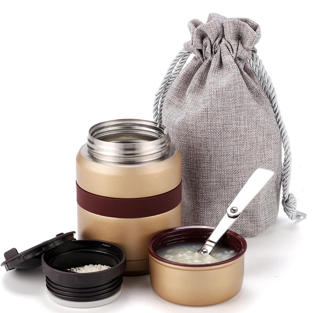 With containers 4 Colors for hot food thermos Thermoses 350mL stainless steel thermo mug Vacuum Flasks mini lunch box