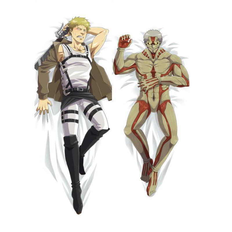 BL Male New Japanese Anime Attack on Titan Reiner Braun Throw Otaku Dakimakura Gifts Bedding Hugging Body Pillow Case 150x50 CM