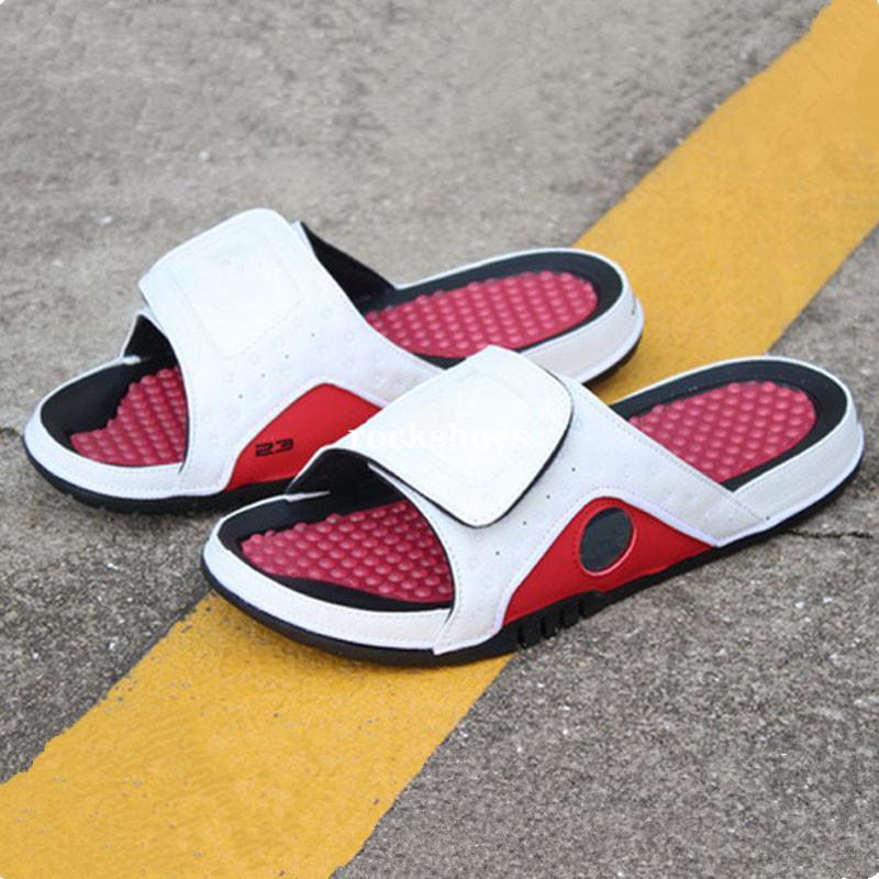 Hydro 4s Slaytlar siyah Kırmızı Plaj kadınlar 11 XI 6 VI Casual sandalet sandalet 2020 Erkekler Jumpman 4 terlik açık ayakkabılar boyutu 36-45 mens