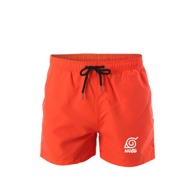 Pantaloncini da corsa uomini diritto coulisse Summer Beach Shorts Naruto Swimwear stampati bordo degli uomini Quick Dry short uomo