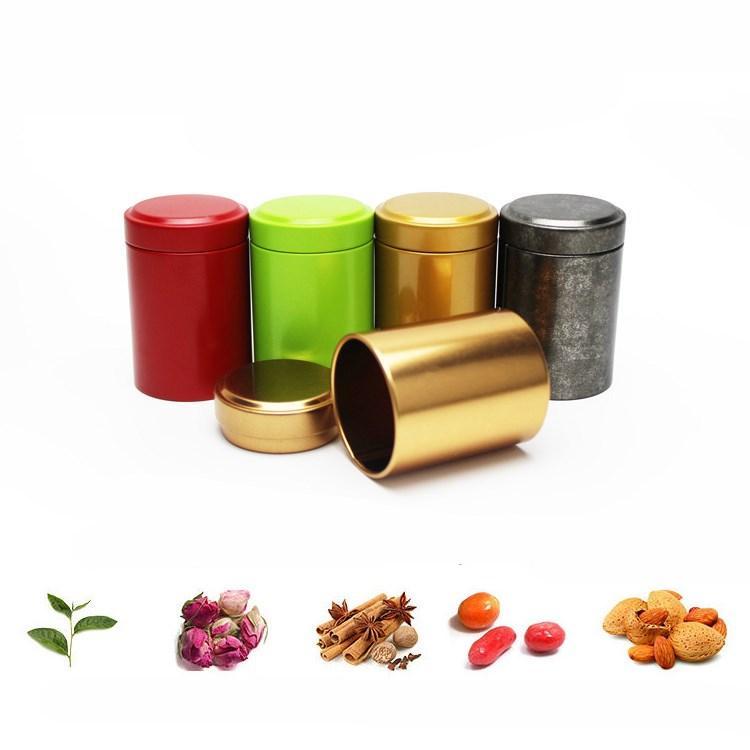 fashion45 * 65мм Tin Box Чай коробки кофе Сахар Орехи Jar Ящики для хранения металла монеты конфеты ювелирных изделий Дело Организатор Чай CaddiesT2I5590
