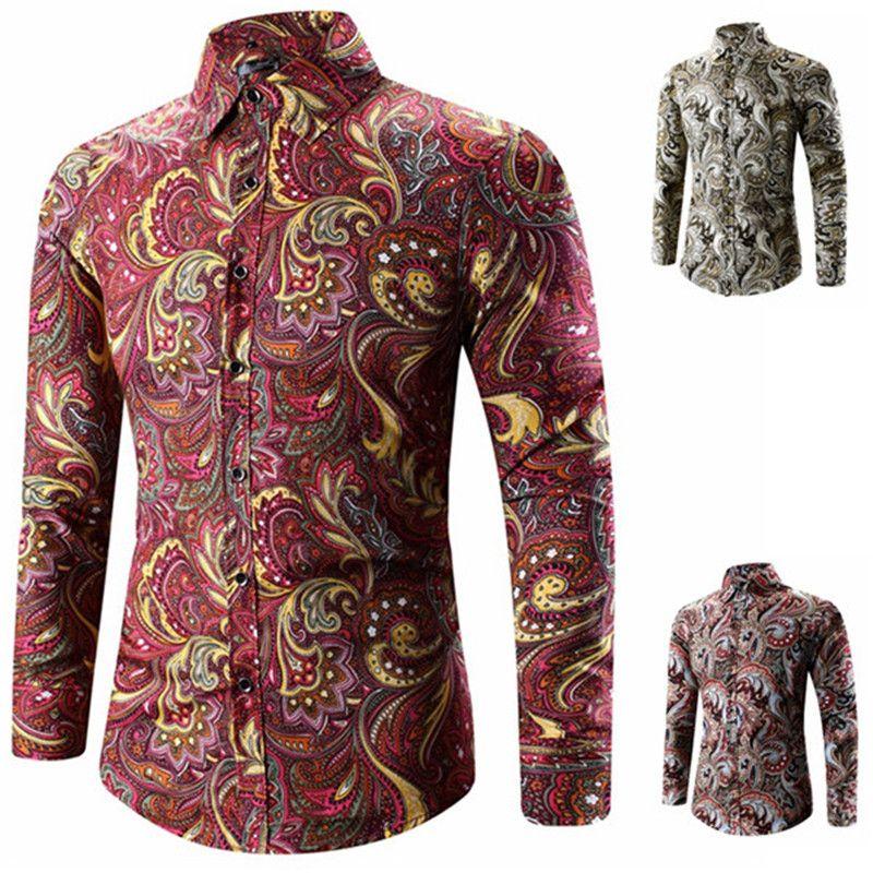 Mens Designer T-Shirts in Übergrößen Vintage-Printed beiläufige dünnen Revers Hals Shirts Herrenmode Shirts