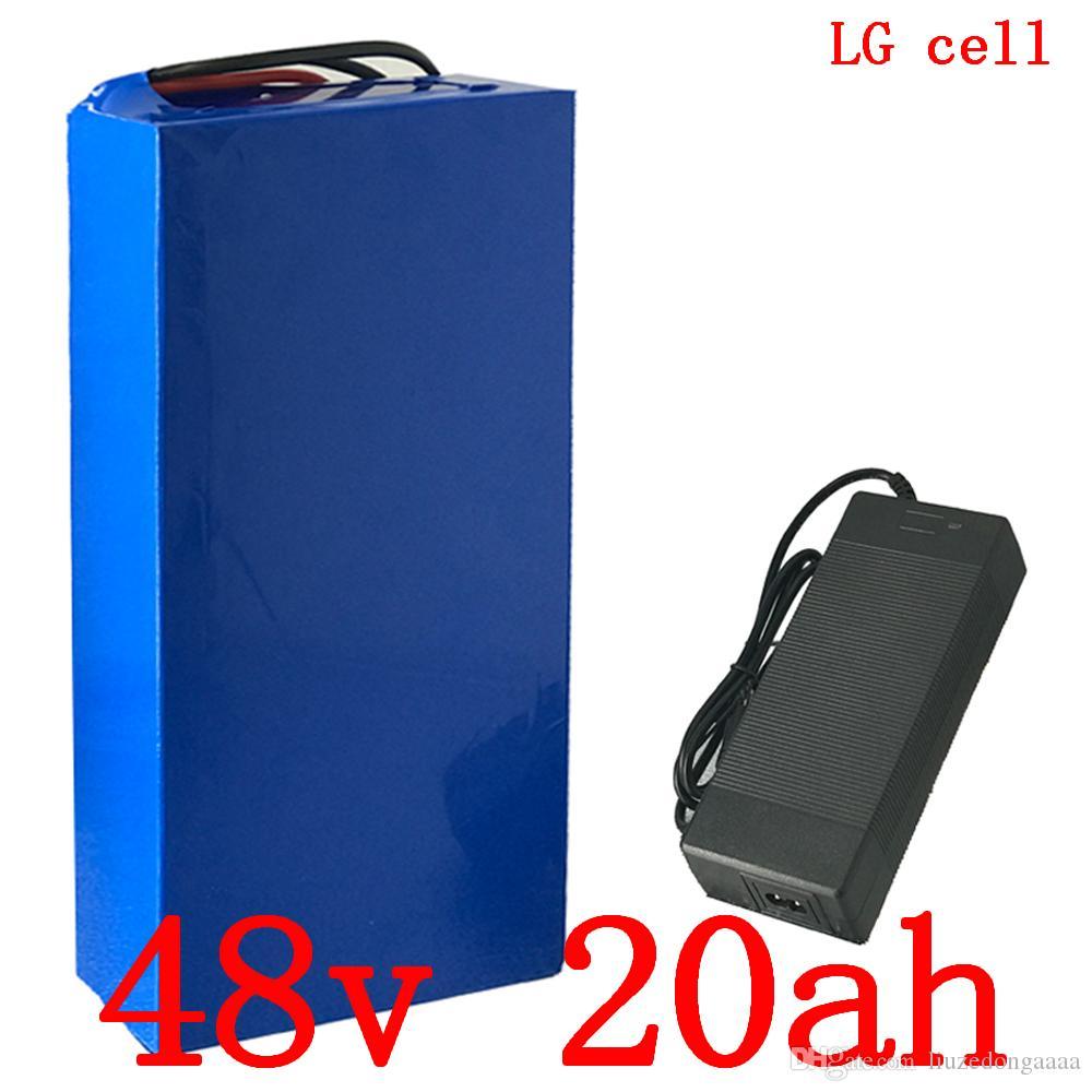 48 48V 1000W batterie au lithium V 20AH 48V 20Ah vélo électrique utilisation de la batterie lithium-ion chargeur de batterie portable LG avec l'impôt 54.6V 2A gratuit