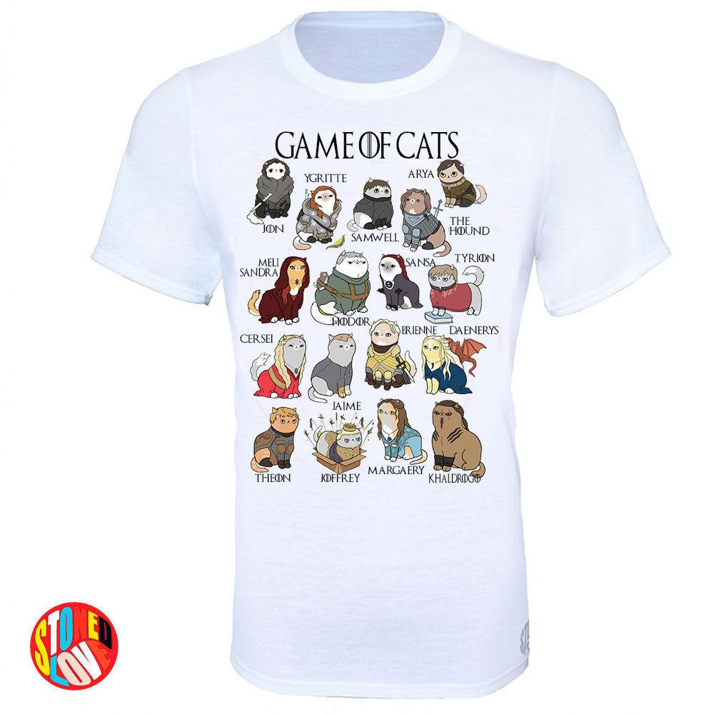 Game Of Cats T-Shirt Game Of Thrones Comedy Tee Shirt Adults Sizes