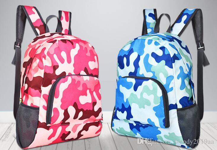DHL 50pcs femmes Sacs de voyage portable multifonctions sac à dos pliable Sacs à bandoulière 10colors