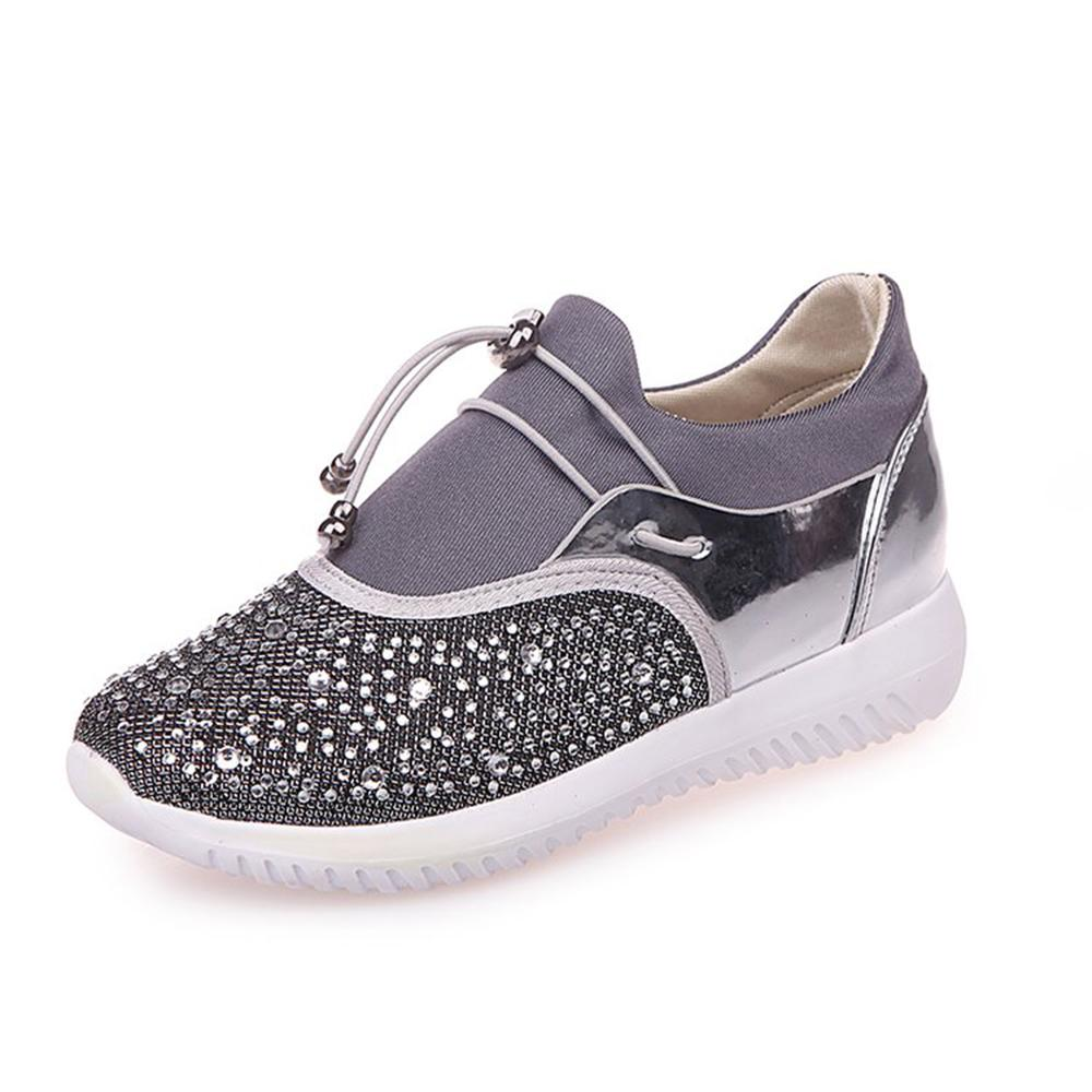 74317a280 Fast delivery Women casual shoes fashion breathable Walking mesh lace up  flat shoes sneakers women 2018 slip on sneakers 44 size