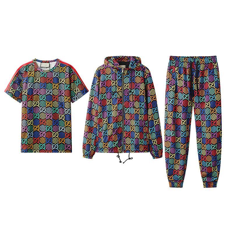 Designer-Sportswear-Jacke Anzug Mode Herren-Sport kurzärmeliger Anzug Brief slim-fit Kleidung der Leichtathletik Anzug Medusa Luxus läuft