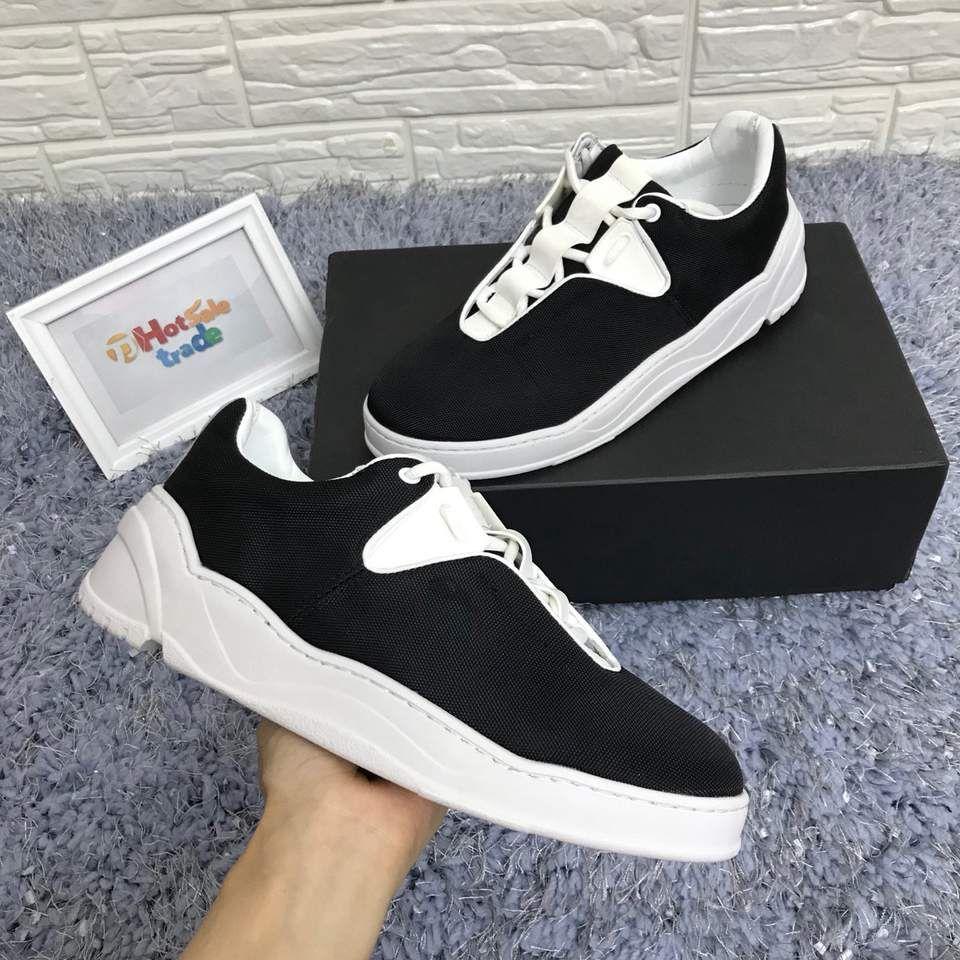 Chunky Chaussures de sport d'été 2109 New Calfskin Luxe bleu toile et noir Chaussures Casual Randonnée pédestre Randonnée Chaussures de toile Chaussures Sac poussière