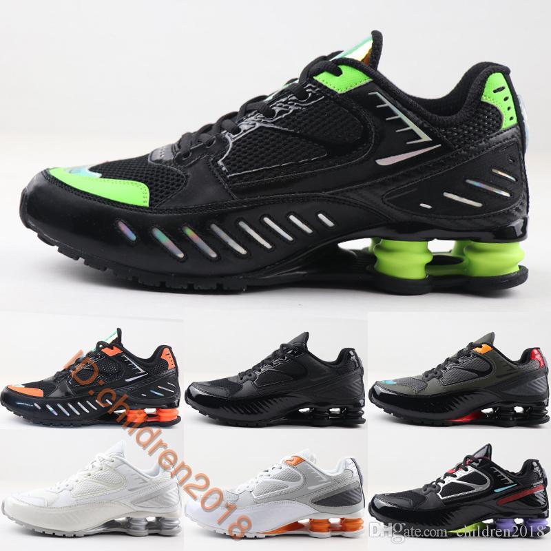 Erkekler 2020 Hava Yastık Siyah Kireç Blast Kargo Haki Hayalet Aqua Sneakers Boyutu 39-46 İçin Yeni Enigma R4 Yerçekimi BB4 Koşu Ayakkabı