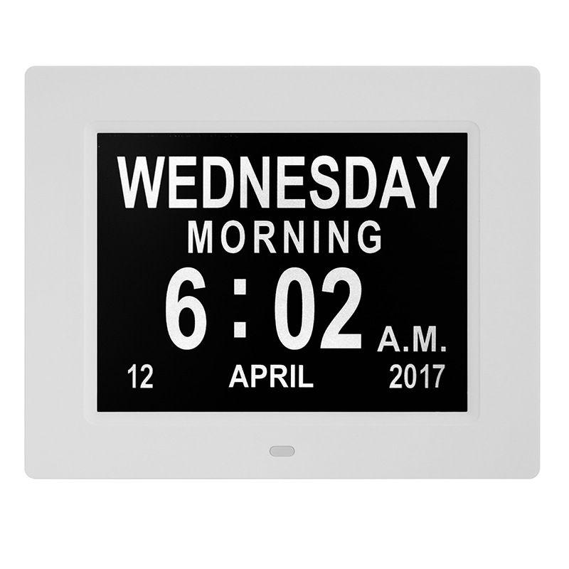 Абуйте-8-дюймовый электронных часов Календарь Digital Photo Frame автоматически подстраивает яркость Alarm Clock AU Штекер