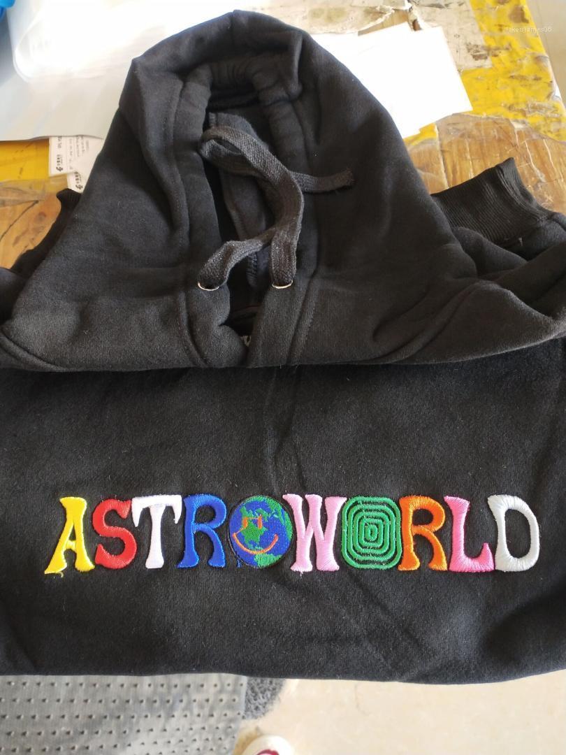 2020 Broderie Sweats Homme Hiphop Skateboard Printemps Automne Je vous souhaite wer ici Sweat Astroworld
