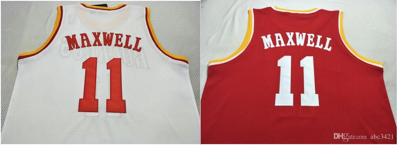 Personnalisé hommes jeunes femmes Vintage # 11 Vernon Maxwell 1993-97 Collège de basket-ball Jersey Taille S-5XL ou personnalisé n'importe quel nom ou nombre jersey