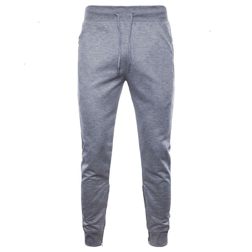 Hommes Pieds Pantalons Pantalons de mode Casual Side Zippers Grande Taille Pantalon sport Joggers homme Casaul longue cheville Tied Cargo Pant