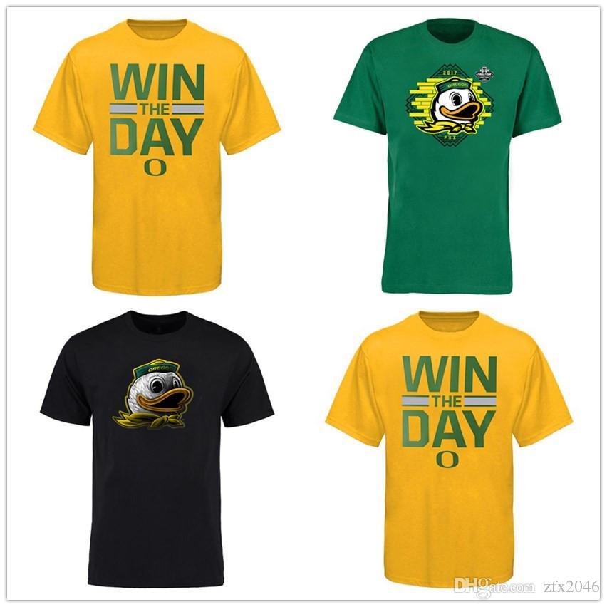 NCAA OREGON Ducks Midnight Mascot Camiseta Baseketabll Béisbol Fútbol Mens Designer Camisetas Naranja Amarillo Verde Fans Tops Tee Impreso Logotipos
