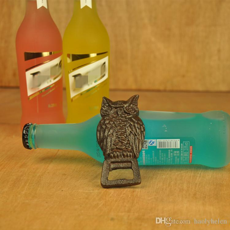 10 Pieces Solid Owl Bottle Opener Rustic Brown Vintage Look Beer Openers Bar Pub Restaurant Tavern Bartender Sports Room Decoration Vintage