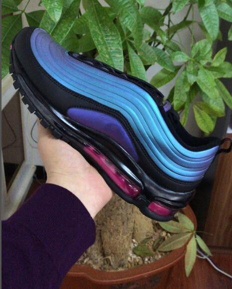Nike air basketball shoes escuro brilhante design único South Beach Amarelo Triplo Branco Sports Sneaker Shoes