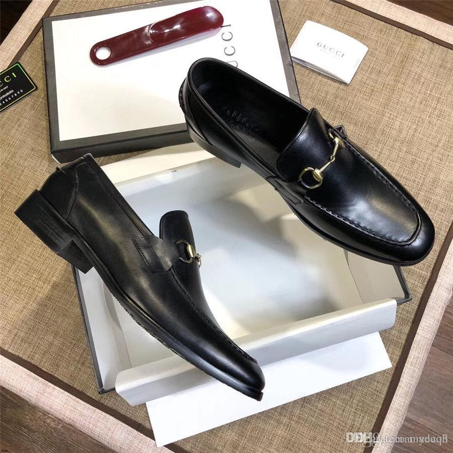 2020 плюс размер мужчины платье обувь роскошный деловой человек оксфорды весна осень Мужская обувь зашнуровать британский кожаный квартиры острым носом YECQ3