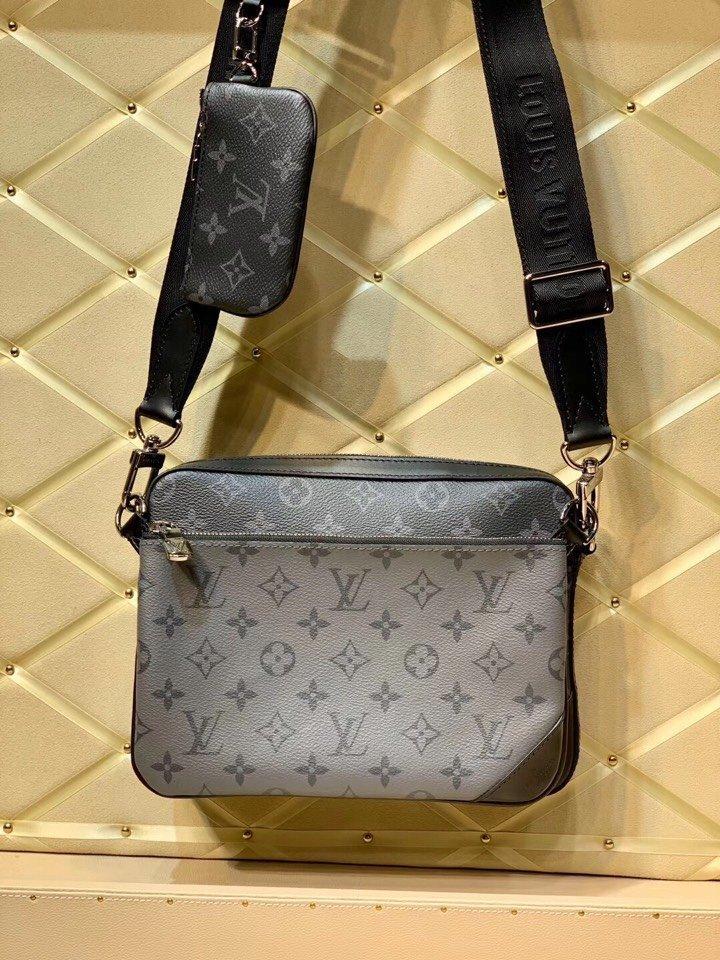 saco de ombro único M69443 mais vendido para homens com Adjustab high-end de couro de qualidade personalizado diagonal estilo de moda saco de cruz