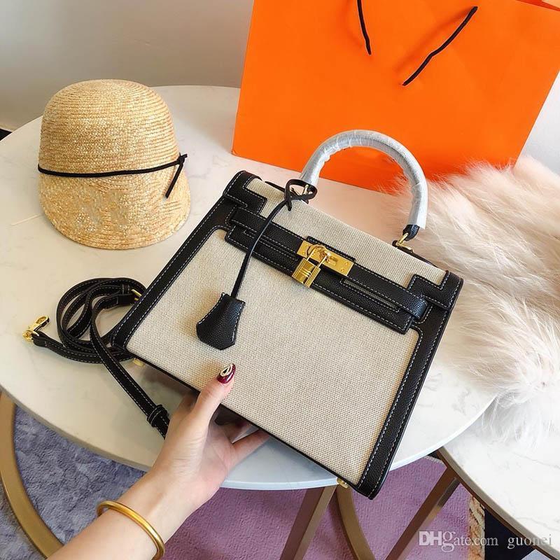 Designer K Handtasche Geldbörse H Mode Totes Canvas Material 28 cm Designer- Bags Frauen Luxus HCFXX