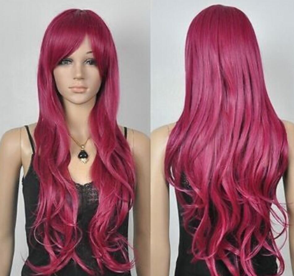 Парик бесплатная доставка красное вино длинный волнистый косплей парик с сеткой для волос