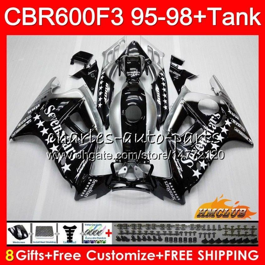 Body + Serbatoio per Honda CBR 600F3 600cc CBR600 F3 Sevenstars 95 96 97 98 41HC.124 CBR 600 FS F3 CBR600FS CBR600F3 1995 1996 1997 1998 carenatura