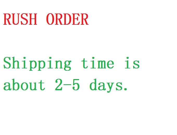 Ordine urgente, il tempo di realizzazione è di circa 5-8 giorni e anche il tempo di spedizione è di circa 3-5 giorni tramite DHL / SF_express / EMS / UPS / Fedex.