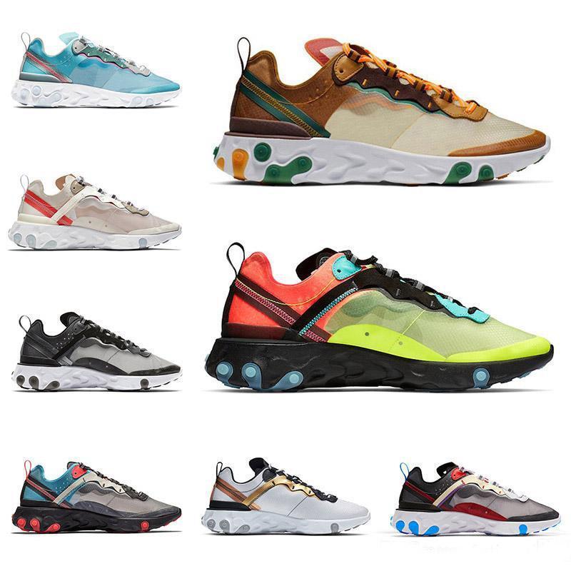 Erkekler Kadınlar Işık Kemik Üçlü Siyah Kraliyet Güneş Takımı Kırmızı Erkek Eğitmenler Spor Sneaker Sunner İçin Eleman 87 55 Koşu Ayakkabı Tepki