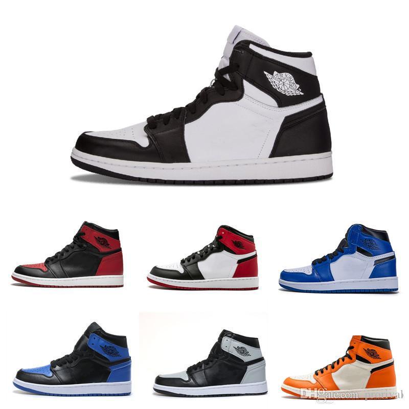 Hot 2020 nuovo commercio all'ingrosso 1 High Olimpiadi di pallacanestro degli uomini Scarpe Donna scarpe da tennis di alta qualità Pittura Graffiti Nero Rosso UNC Sport GYM Shoes 36-45