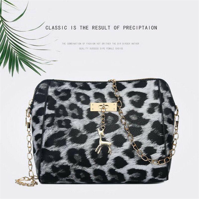 Mulheres Lady Moda Leopard Crossbody Bag para a menina sobre o corpo Messenger Bag Senhoras e bolsas a tiracolo Mão