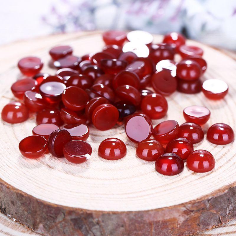 wholesale gemstone.10 PCS Natural gemstone Fashion Red Agate pendant necklace Cabochon Beads ,6x3mm,0.1g