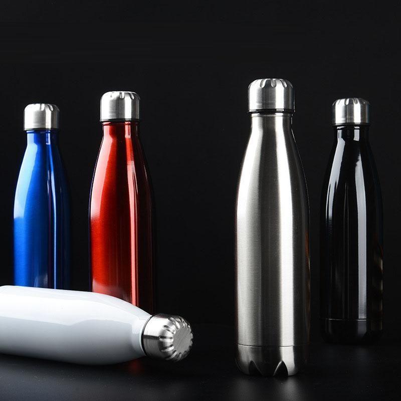 750ml de parede dupla com isolamento a vácuo garrafa balão de aço inoxidável água BPA garrafa térmica para garrafas de água desporto