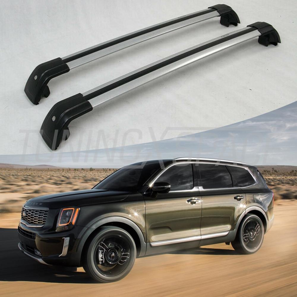 Snailfly Lockable Black Roof Rack Cross Bars Customized for Kia Telluride 2019 2020