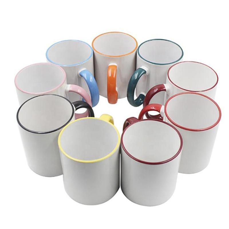의 hihg 품질 로고 사용자 정의 화이트 세라믹 머그잔 맞춤 디자인 커피 한잔 여행 캠핑 하이킹 피크닉
