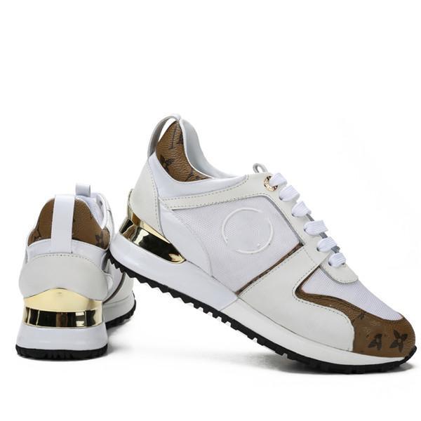 Louis Vuitton Shoes Yüksek kaliteli Tasarımcı Ayakkabı Markası Erkekler Kadınlar Düşük Kesim Casual Run Away Ayakkabı Fransa Marka Erkekler Kadınlar Sneakers Loafers 36-44