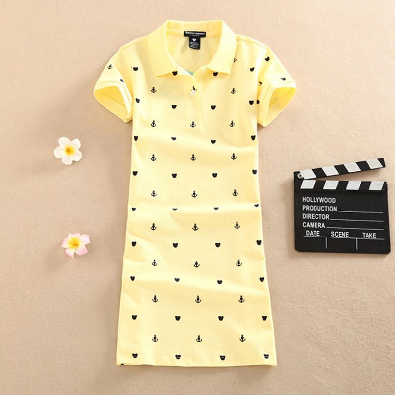 Nuevo Polo 2019 Fiesta de estampado floral Vestido elegante Camiseta Verano Mini Mujer Thin Interim Cotton Robe Ete Femme Camiseta Short Vestidos Y19071101