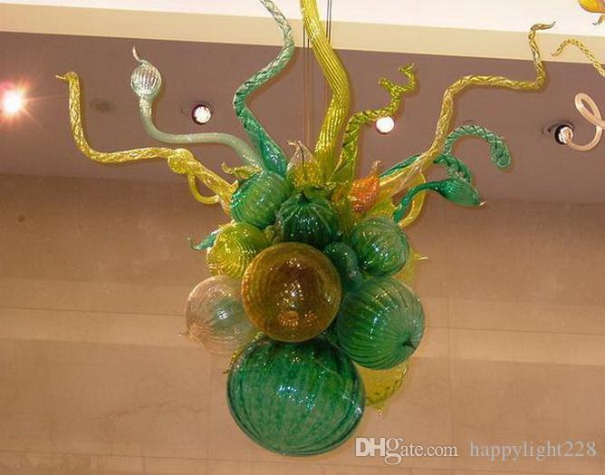 Современная мода светодиодная люстра светильники энергосберегающие модные светильники Дейл Chihuly стиль мурано стеклянные люстры