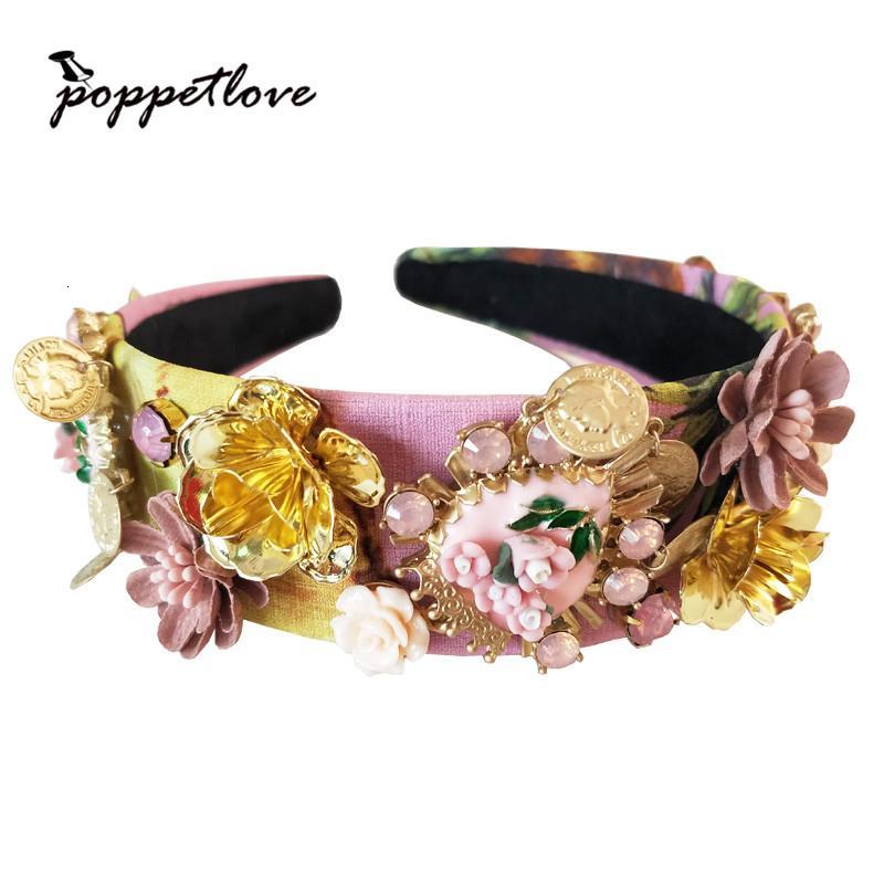 Nuovo Lmited Luxury Edition sposa Matrimonio Copricapo Barocco Corona annata di modo monili trasversali ornamenti della regina delle donne dei capelli SH190927 Jewelry