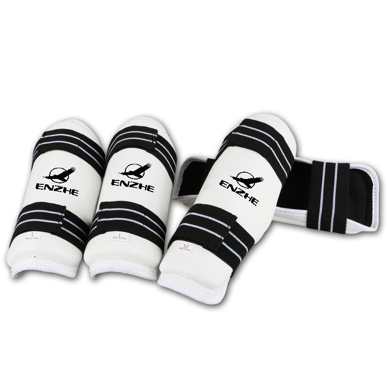 Di alta qualità braccio Parastinchi Taekwondo Protezioni karate frighting protezione dell'avambraccio formazione gamba WTF approvare pad di gomito