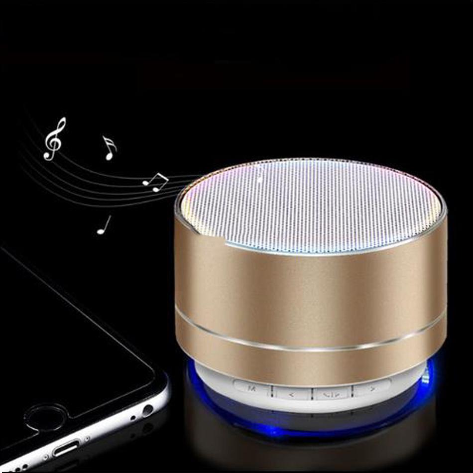 YENİ Mini Taşınabilir Hoparlör Box MP3 Tablet PC için FM TF Kart Yuvası LED Audio Player A10 Bluetooth Hoparlör Kablosuz Eller serbest