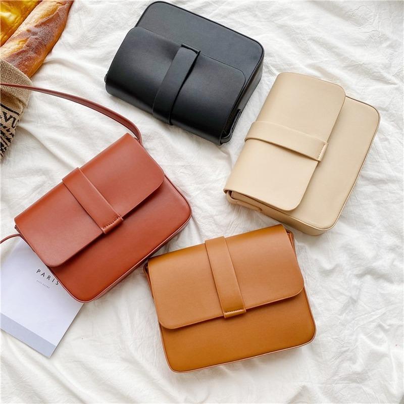 2020 Новая Женская сумка сплошной цвет простой сумка мода дамы посланник повседневная ретро небольшой квадрат