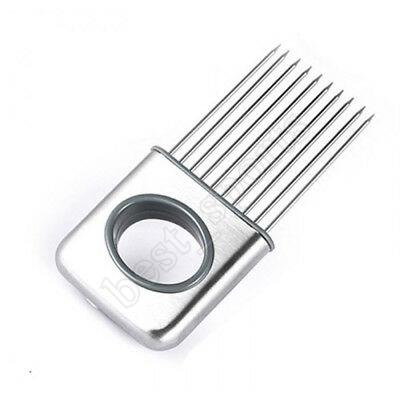 Easy Cut лук держатель Slicer Растительные инструменты Томатного Cutter нержавеющая сталь Kitchen Gadgets Мясо Shredder No More Вонючие Руки ZZA1416