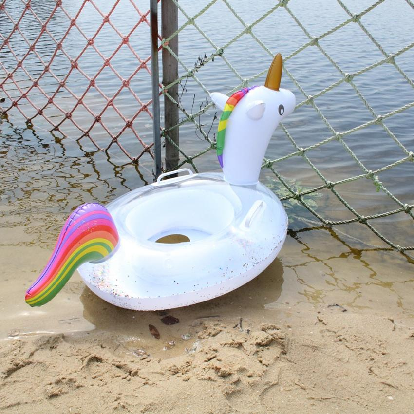Çocuklar Karikatür Şişme yüzün Halka Float Unicorn Radye Koltuk Yüzme Havuzu İçin Çocuk Bebek Oyuncakları Şişme Havuz Float LJJK2147
