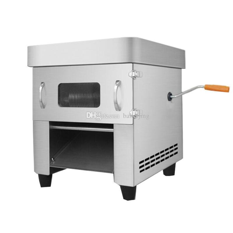 Manuelle New Elektrische Schneidemaschine Cutter Handelshaupt Ausziehbare Klinge Fleisch-Schneidemaschine Automatische Fleisch-Ausschnitt Mincing