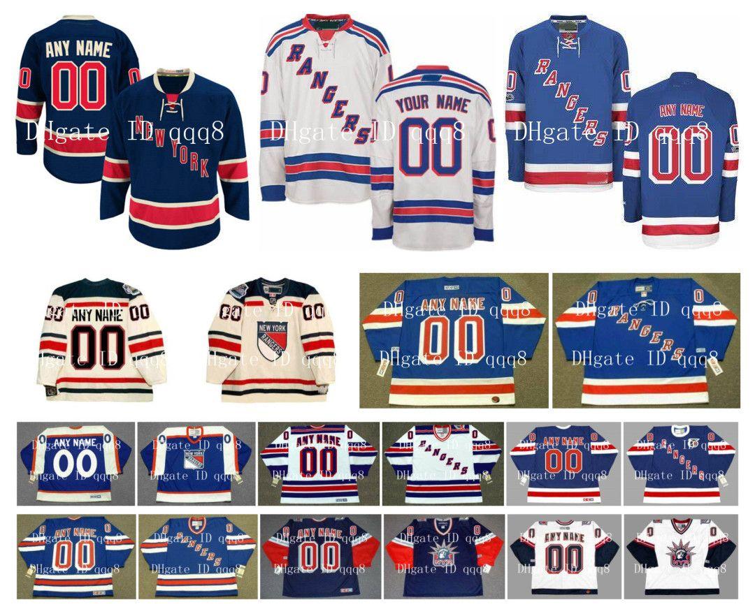 Personalizzato New York Rangers maglie inverno classico personalizzato cucito qualsiasi nome qualsiasi numero Hockey su ghiaccio autentici loghi ricamo