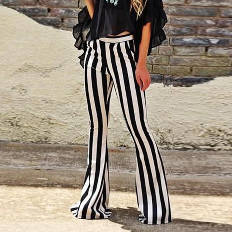 Coréia 2020 Striped Big Spring Patchwork Vintage Corredores Sweatpants Mulher Harajuku bolso Alargamento calças largas calças de pernas ZA2494 T200622
